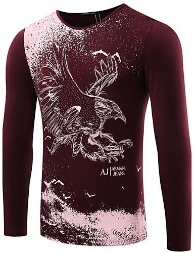 Majica s rukavima Muške Ležerno/za svaki dan Plus veličine Print-Dugih rukava Pamuk