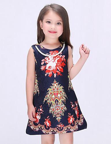 여자의 드레스 플로럴 여름 / 봄 / 가을 레이온 멀티 색상