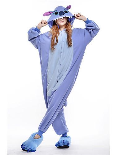 preiswerte Kigurumi Pyjamas-Erwachsene Kigurumi-Pyjamas Monster Blaues Monster Pyjamas-Einteiler Polar-Fleece Blau Cosplay Für Herren und Damen Tiernachtwäsche Karikatur Fest / Feiertage Kostüme