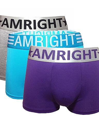 Am Right Muškarci Cotton / Spandex / Modal Uže bokserice 3 / kutija-AWH032