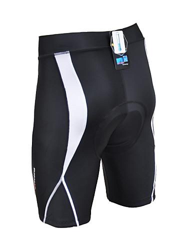 cheap Cycling Clothing-Acacia Unisex Cycling Padded Shorts Bike Shorts Padded Shorts / Chamois Pants Breathable 3D Pad Quick Dry Sports Geometic Cotton Spandex Elastane Winter Black Road Bike Cycling Clothing Apparel