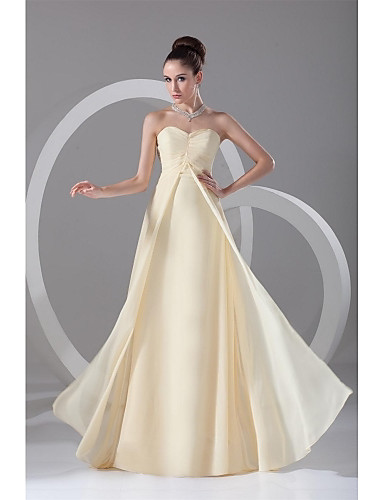 Eng anliegend Sweetheart Boden-Länge Chiffon Abiball Formeller Abend Kleid mit Plissee durch TS Couture®