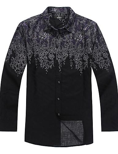 Seven Brand® Hommes Col de Chemise Manche Longues Shirt et Chemisier Noir-703A323763
