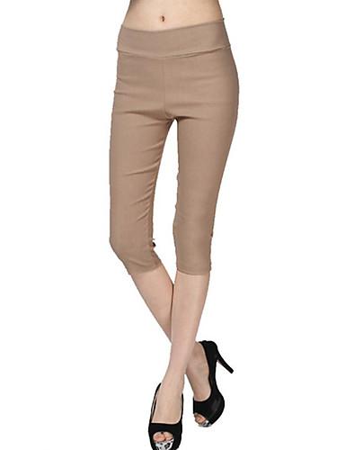 Naisten Yksiväriset Leggingsit,Polyesteri Spandex Keskipaksu