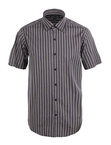 JamesEarl Masculino Colarinho de Camisa Manga Curta Shirt & Blusa Cinzento - M21X5001221