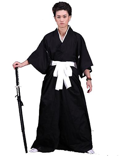 levne Etnické a kulturní Kostýmy-Inspirovaný Tradiční japonština Japonský bojovník / Samuraj Anime Cosplay kostýmy japonština Cosplay šaty / Kimono Jednobarevné Spodní prádlo / Pásek / Kimono Pro Pánské / Dámské