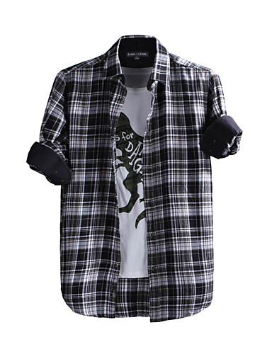 JamesEarl גברים צווארון חולצה שרוולים ארוכים חולצה וחולצה לדעוך שחור-DA202047626