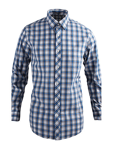 JamesEarl Muškarci Kragna košulje Dugi rukav Shirt & Bluza Cijan - MB1XC000905