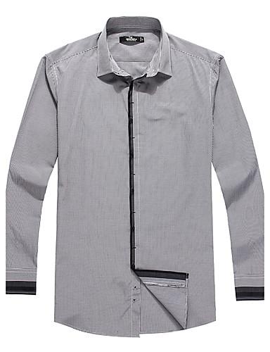 hét Brand® Férfi Állógallér Hosszú ujjú Shirt és blúz Fekete Elhalványulnak-703A371088