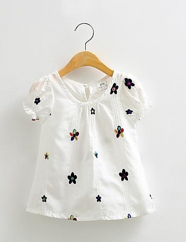 Tyttöjen Painettu T-paita Rento/arki Puuvilla Kesä Lyhythihainen Normaali