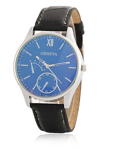 Herren Modeuhr Armbanduhr Quartz / PU Band Vintage Cool Bequem Schwarz Marke