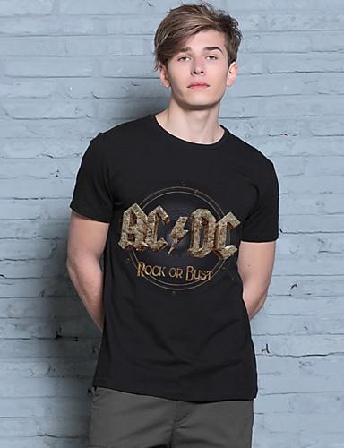 Herrn Alltag Formal Arbeit T-shirt Kurzarm Baumwolle