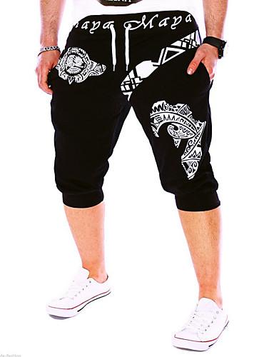 cheap Shorts-Men's Active / Basic Cotton Loose Active / Sweatpants / Shorts Pants - Letter White / Sports / Weekend