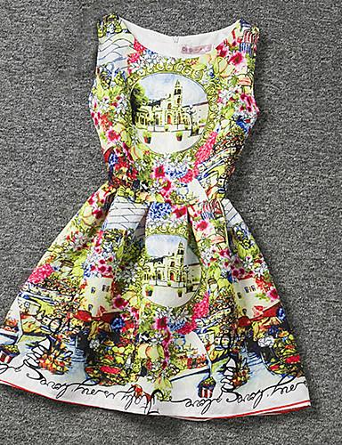 Robe Fille de Eté Polyester Jaune