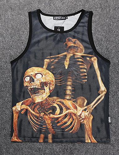 Store størrelser T-skjorte Trykt mønster Sport Arbeid Herre