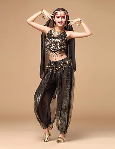 f0e5ae1697ba Belly Dance Outfits Women's Performance Chiffon Sequin Sleeveless Top /  Pants / Headwear
