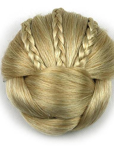 billige Skjønnhet og hår-kinky krøllete gull yrke menneskelige hår blonder parykker chignons 1003