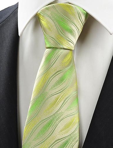 עניבת צווארון - גיאומטרי, חוטי זהורית פוליאסטר וינטאג' חמוד מסיבה עבודה יום יומי בגדי ריקוד גברים