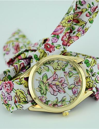 cheap Floral Watches-Women's Fashion Watch Bracelet Watch Quartz Black / Blue / Green Analog Ladies Flower Bohemian - Purple Green Blue One Year Battery Life / Tianqiu 377