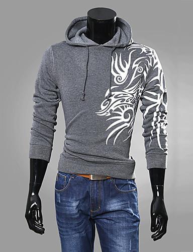 Herren Freizeit Activewear Sets - Druck Lang Baumwolle