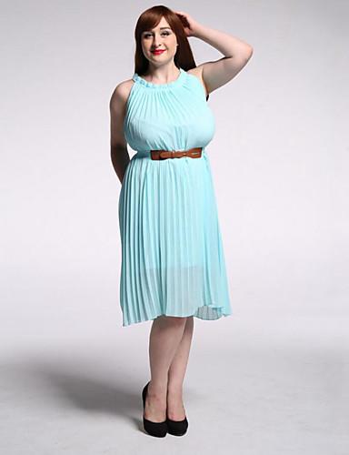 קפלים, אחיד - שמלה מידות גדולות