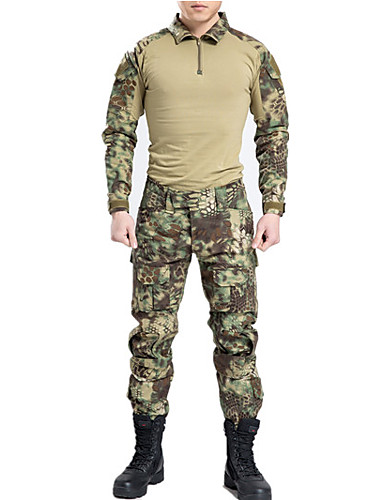 Camiseta de caza con camuflaje Hombre   Mujer   Unisex Transpirable    Secado rápido   Listo para vestir Deportes   camuflaje Licra Camiseta    Pantalones ... 3b5f18d282f