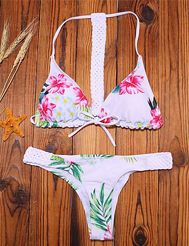 Dame Boheme Grime Trekant Bikini - Blomstret, Trykt mønster Cheeky
