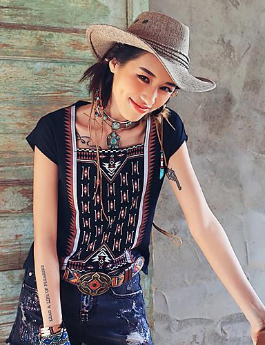 Aporia.As® Damen Rundhalsausschnitt Kurze Ärmel Shirt & Bluse Schwarz-MZ03095