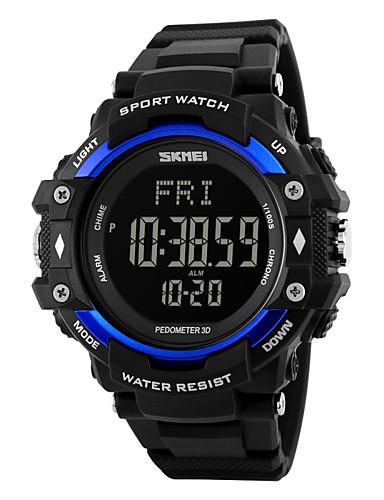 SKMEI Masculino Relógio EsportivoLED Calendário Cronógrafo Impermeável alarme Monitor de Batimento Cardíaco Luminoso Podômetro Cronômetro