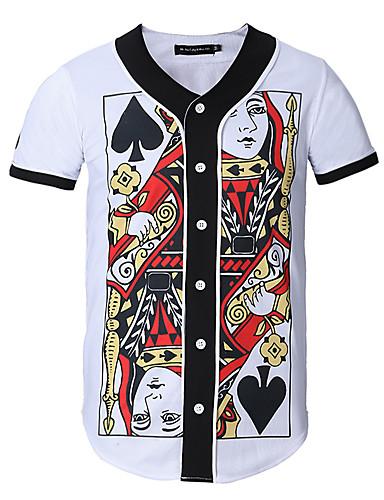 T-skjorte Trykt mønster Sport Arbeid Herre