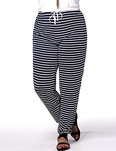 Femme Actif Taille Normale Extensible Jeans Pantalon,Sarouel Rayé