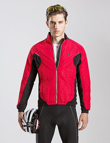 864cb6fc6 TASDAN Men s Women s Cycling Jacket Bike Jacket Windbreaker Winter Jacket  Thermal   Warm Windproof Breathable Sports Fleece Winter Black   Red  Mountain Bike ...