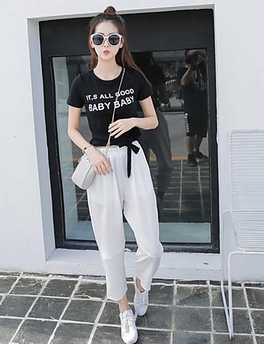 Kvinders Simpel Chinos Bukser Mikroelastisk Polyester