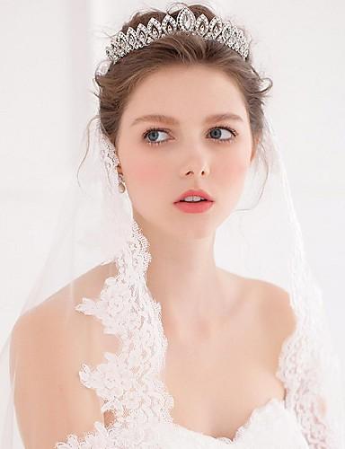 billige Blomsterpike-Imitert Perle / Legering Tiaras / pannebånd / kranser med 1 Bryllup / Spesiell Leilighet / Avslappet Hodeplagg
