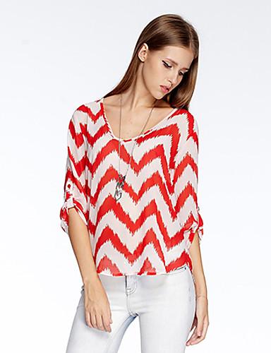 sydän Soul® Naisten Pyöreä kaula-aukko 1/2 pituus Hiha T-paita Keltainen-10A2CP3904