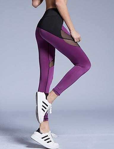 Damer Ensfarvet Legging Spandex