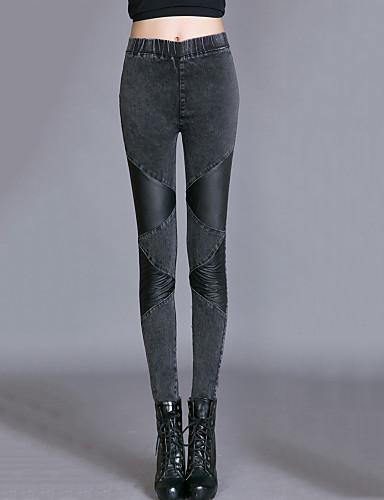 Kvinders Simpel Tætsiddende Bukser Elastisk Bomuld