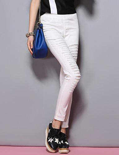 sybel kvinders solid hvid / sort chinos / skinny bukser, street chic