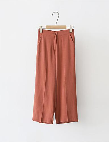 Kvinders Simpel Bredt Bukseben Bukser Mikroelastisk Bomuld / Polyester / Nylon