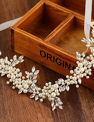 billige Blomsterpike-imitasjon perle pannebånd headpiece klassisk feminin stil