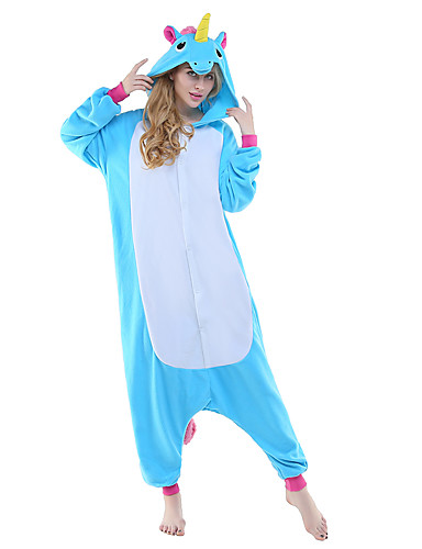 c83647f1583d Adults  Kigurumi Pajamas Unicorn Flying Horse Animal Onesie Pajamas Polar  Fleece Blue   Yellow+Blue   White+Gray Cosplay For Men and Women Animal  Sleepwear ...