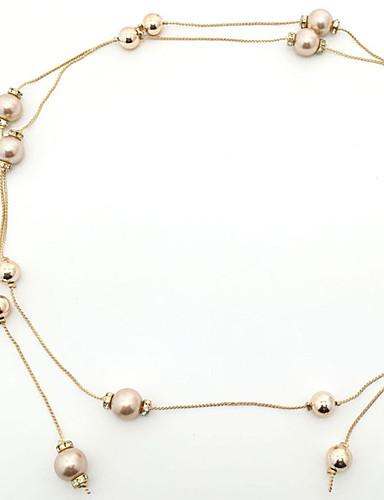 Damer Fest Kæde,Perle Solid