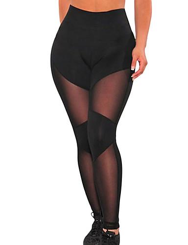 Damen Alltag Grundlegend Legging - Solide, Druck Mittlere Taillenlinie