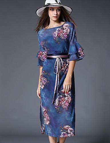maxlindy kvinders gå ud / fest / cocktail / ferie vintage / gade chic / sofistikerede blomstret kappe kjole
