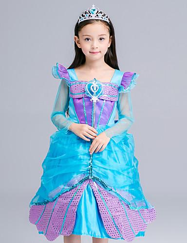 ball kjole te lengde blomst jente kjole - organza sateng langermet firkantet hals med sequin av lovelybees