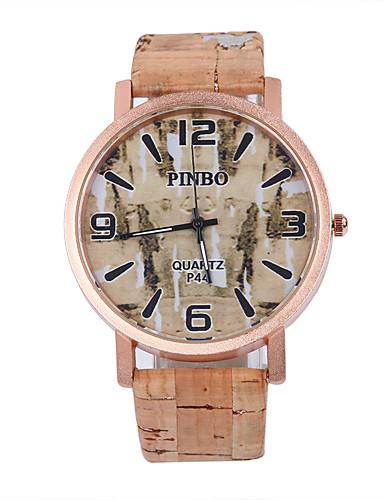 Homens Relógio Madeira Relógio de Pulso Quartzo / PU Banda Casual Cores Múltiplas