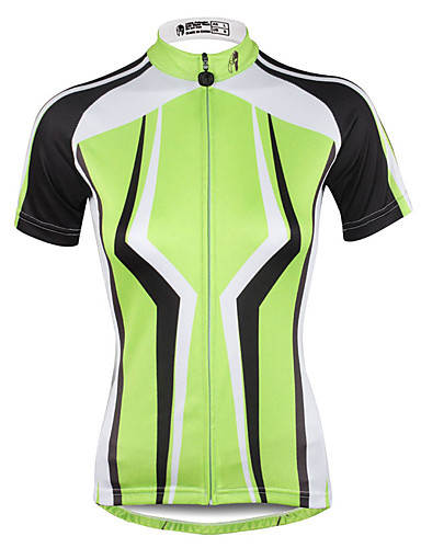 cheap Cycling Jerseys-ILPALADINO Women's Short Sleeve Cycling Jersey Plus Size Bike Jersey Top Breathable Quick Dry Ultraviolet Resistant Sports 100% Polyester Mountain Bike MTB Road Bike Cycling Clothing Apparel
