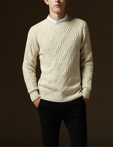 Heren Effen Dagelijks Pullover, Lange mouw Winter Herfst