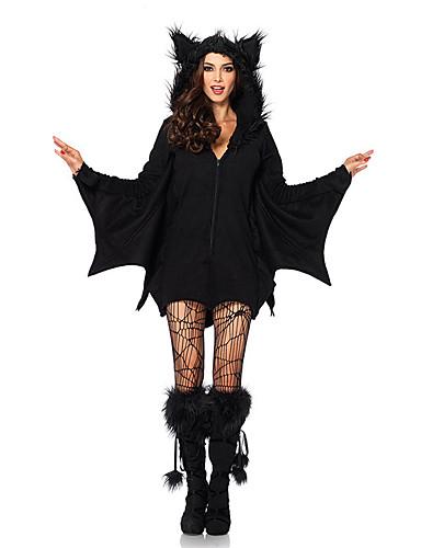 8bc45b4a88f9 Vampyr Cosplay Kostumer Festkostume Maskerade Voksne Dame Halloween Festival    Højtider Terylene Sort Dame Karneval Kostume Ensfarvet