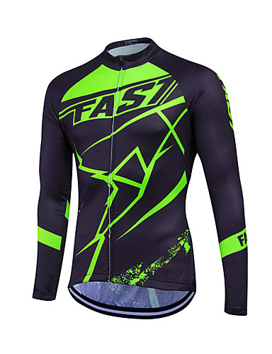 cheap Cycling Clothing-Fastcute Men's Women's Long Sleeve Cycling Jersey Plus Size Bike Sweatshirt Jersey Top Breathable Quick Dry Reflective Strips Sports Coolmax® 100% Polyester Mountain Bike MTB Road Bike Cycling